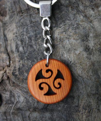 Celtic triskele keyring