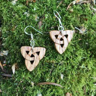 Irish oak triquetra earrings