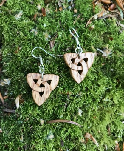 Irish oak triquetra earrings