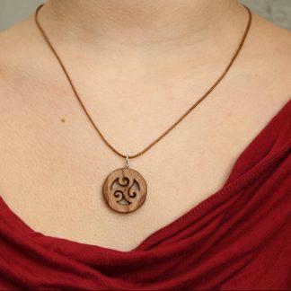 Celtic triple spiral necklace