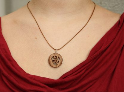 Celtic triple spiral necklace