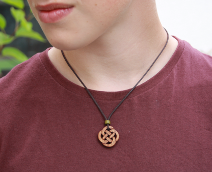 Hand-carved Celtic knot