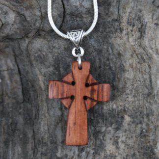 Rosewood Celtic cross necklaceRosewood Celtic cross necklace