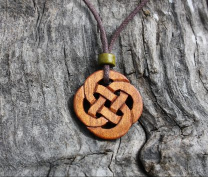 Rosewood Celtic knot necklace