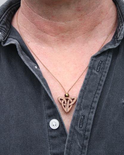 Irish Elm Triquetra necklce