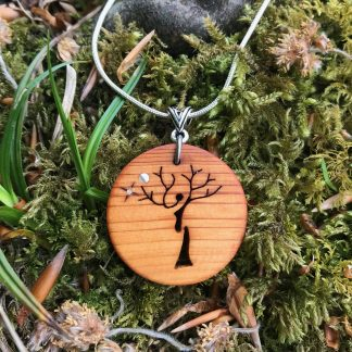 Irish Yew wood Celtic Tree of Life necklace