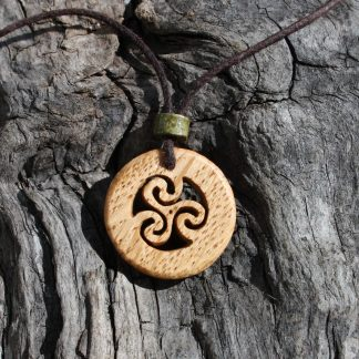 Irish oak triskele necklace