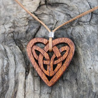 Mahogany Celtic eternity knot necklace