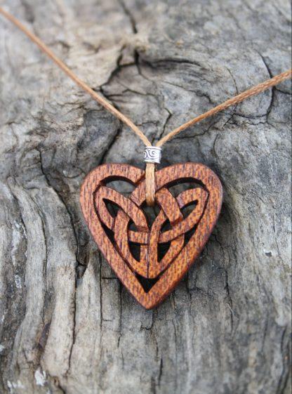 Mahogany Celtic eternity knot necklace