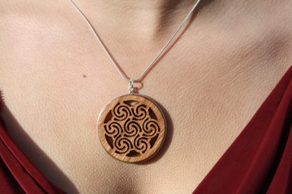 Triple goddess Celtic spiral necklace