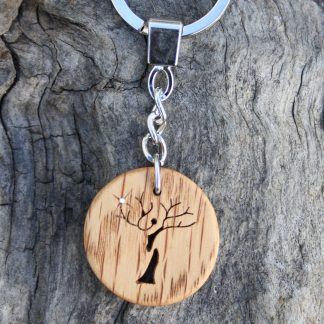 Irish Oak Tree-lady keyring