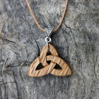 Irish oak Trinity knot necklace