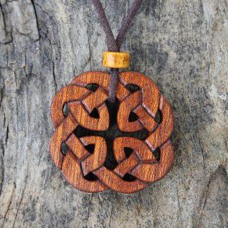 Mahogany Celtic knot necklace