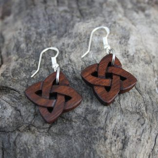 Hand-carved Celtic love knot earrings