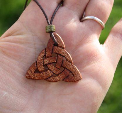 Mahogany Triquetra necklace