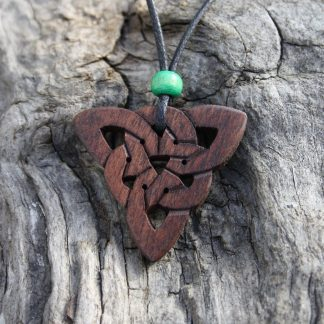 Walnut Triquetra necklace