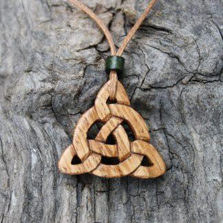 Irish chestnut Celtic Triquetra pendant