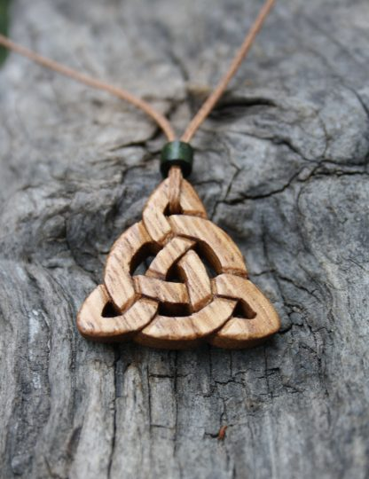 Irish chestnut Celtic Triquetra pendant