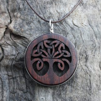 Rosewood Tree of life pendant