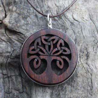 Rosewood Tree of life pendant by Fretmajic