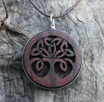 Rosewood Tree of life pendant by Fretmajic