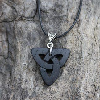 Irish Bog Oak Trinity Pendant