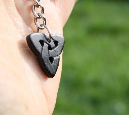 Irish Bog Oak Trinity key-chain