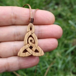 Irish oak Celtic motherhood knot necklace