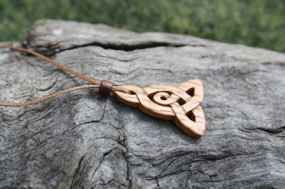 Irish oak Celtic motherhood knot necklace
