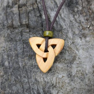 Irish Blackthorn triquetra necklace