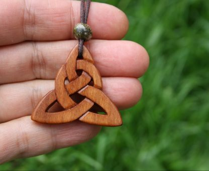 Triquetra Carved on Irish cherry wood