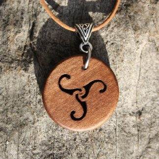 Irish Willow Celtic Triskele pendant