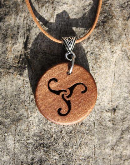 Irish Willow Celtic Triskele pendant