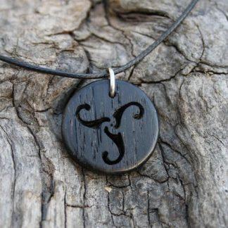 Irish Bog Oak Celtic triskele Pendant